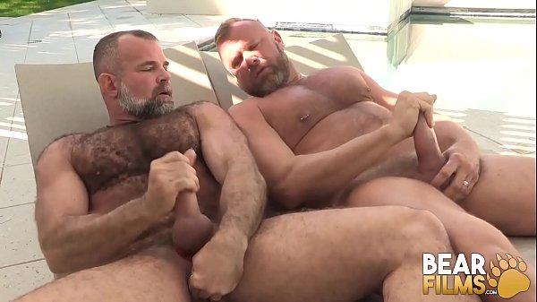 BEARFILMS Tiger Pounce Barebacks Bear After Sucking Cock